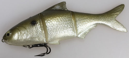Top Sommer-Swimbait: der 6 Zoll Platinum Threadfin Blue in der Fast Sinking Version von Castaic.